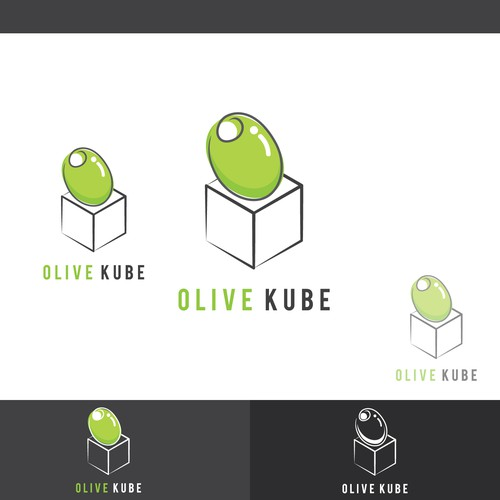 Submitted logo design for Olive Kube