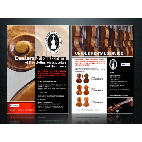 Violinmakers Flyer design