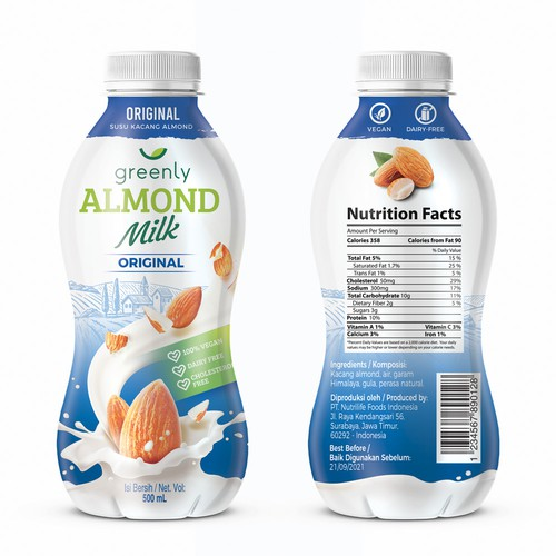 Almond Milk Label Design