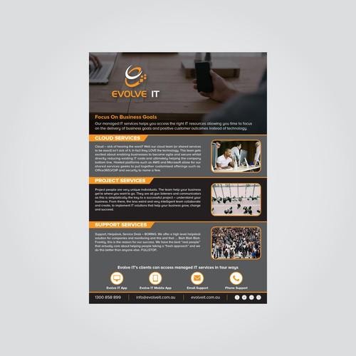 Evolve IT Flyer Concept