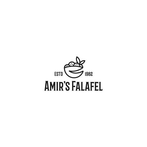 monoline logo for Amir's Falafel