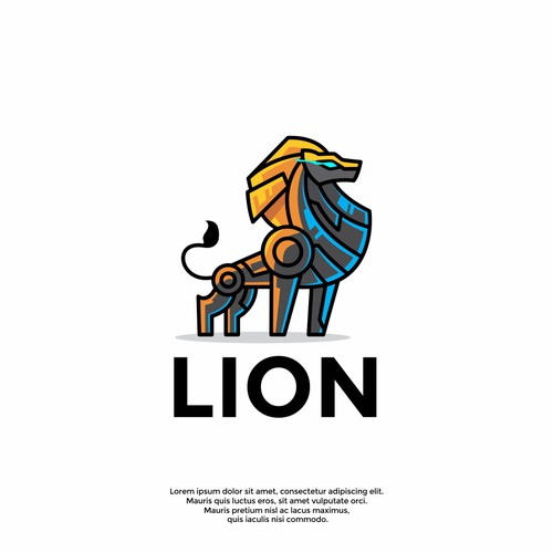 cool lion logo