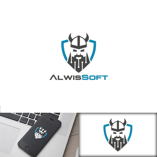 Logo for software company and app agency