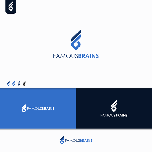 Build a national-brand logo for our techie Famous Brains!