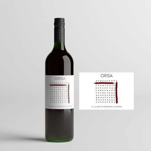 Wine label (crossword puzzle)