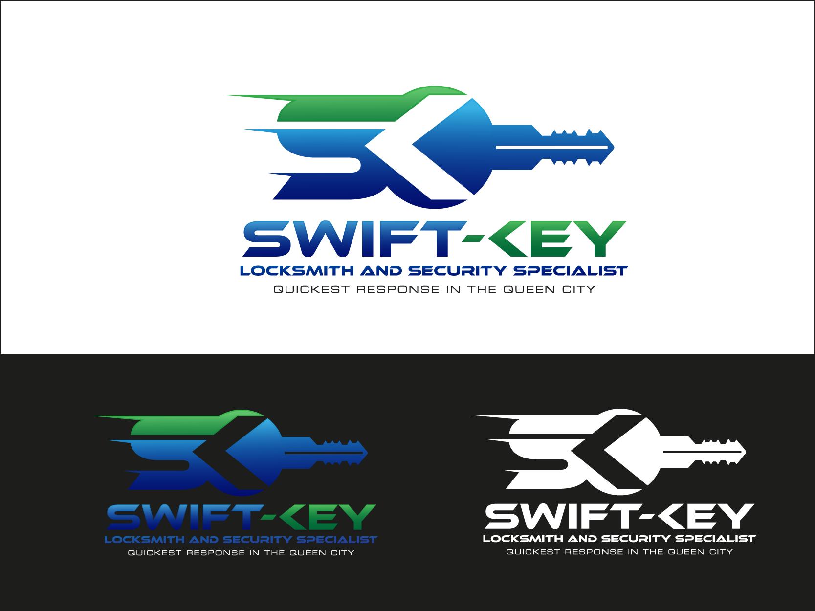 Badass Locksmith Key Design Logo