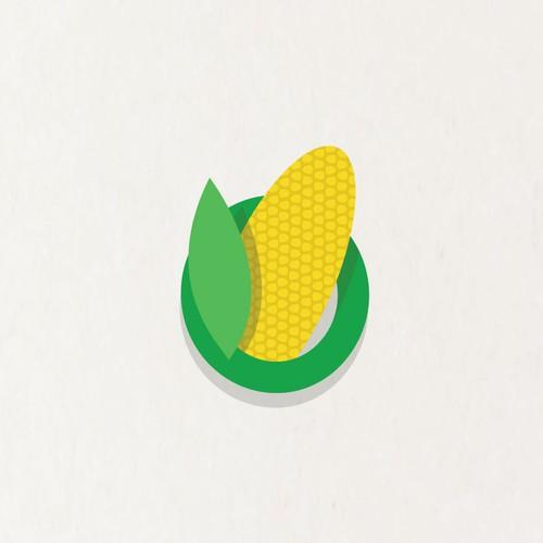 Bubbly Corn Logo for Frozen Corn Company