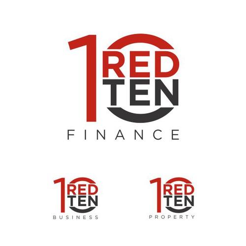 logo concept for red ten finance