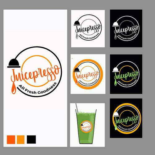 Logo for Fresh pressed Juice bar