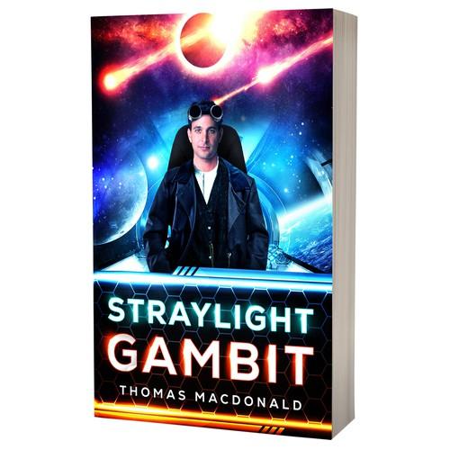 Book cover design - Straylight Gambit by Thomas Macdonald