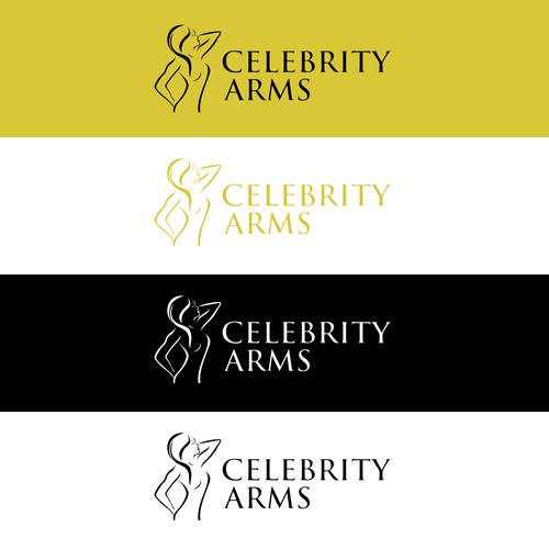 Beautiful outlines logo to Celebrity Arms