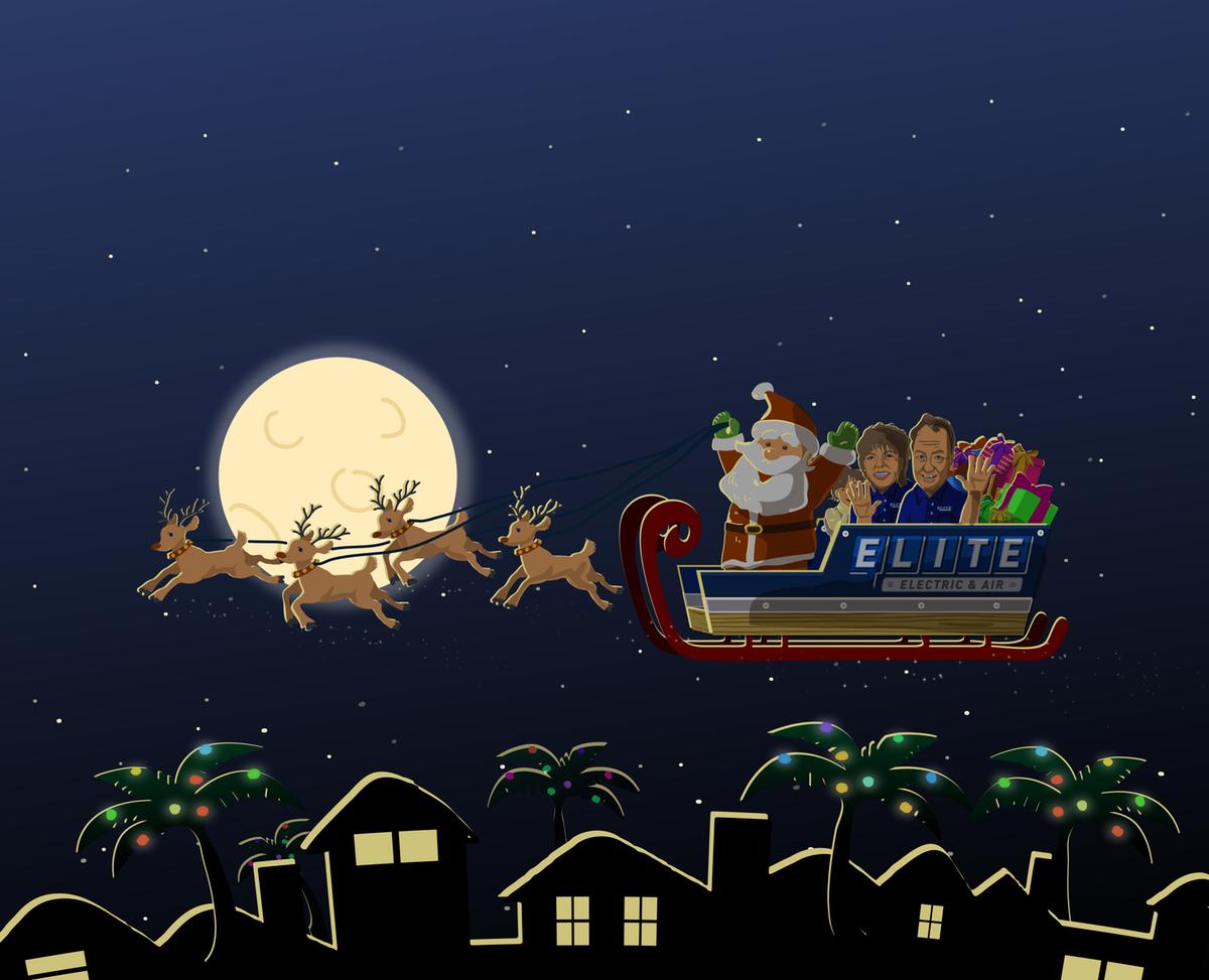 Elite Holiday illustration for ad