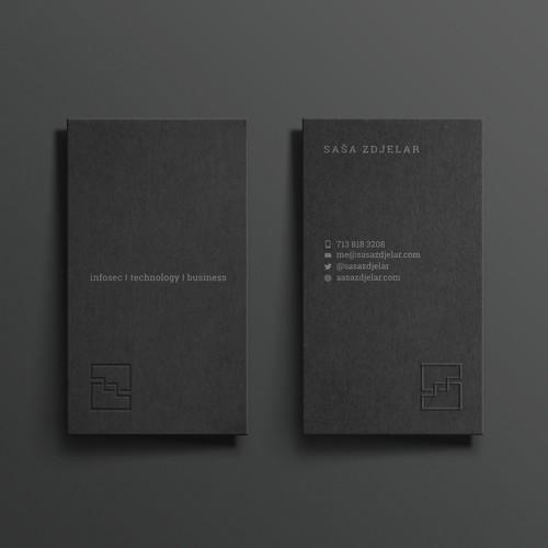 Dark-Gray letterpress BC + Emboss