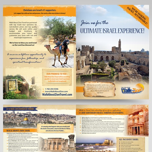Christian Group travel brochure