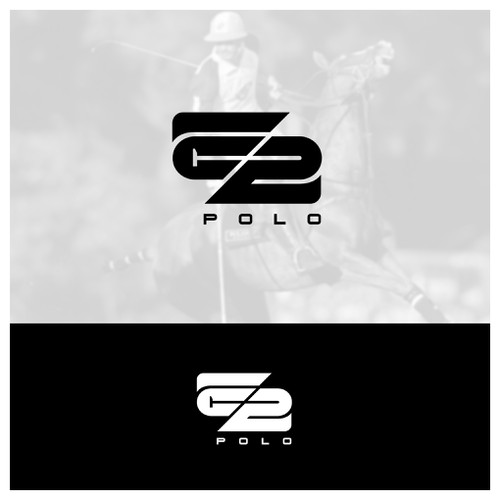 Monogram with Negative Space logo concept for E2 Polo