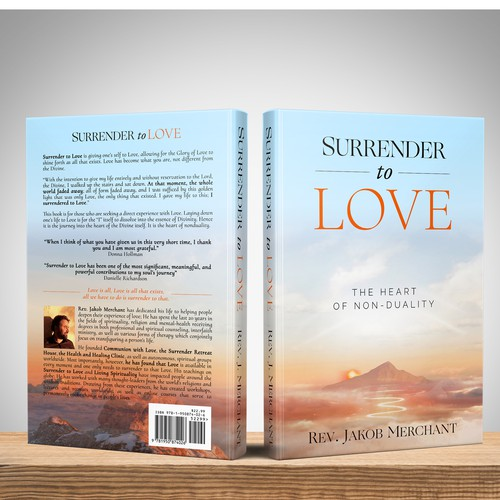 Cover design for a spiritual book