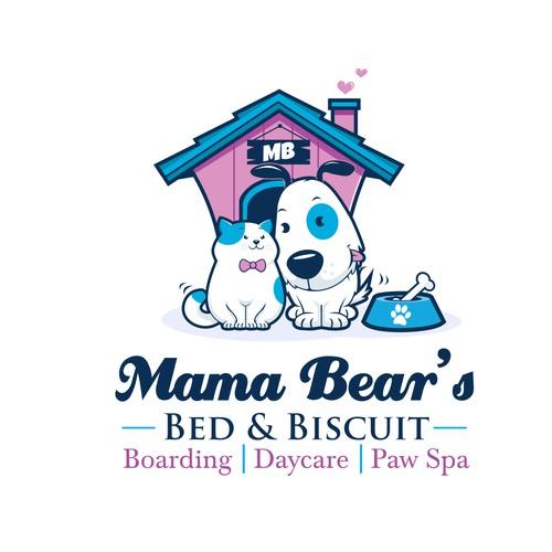 Mama Bear pet logo
