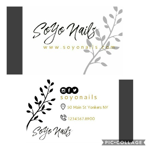 Business Card Nail Art