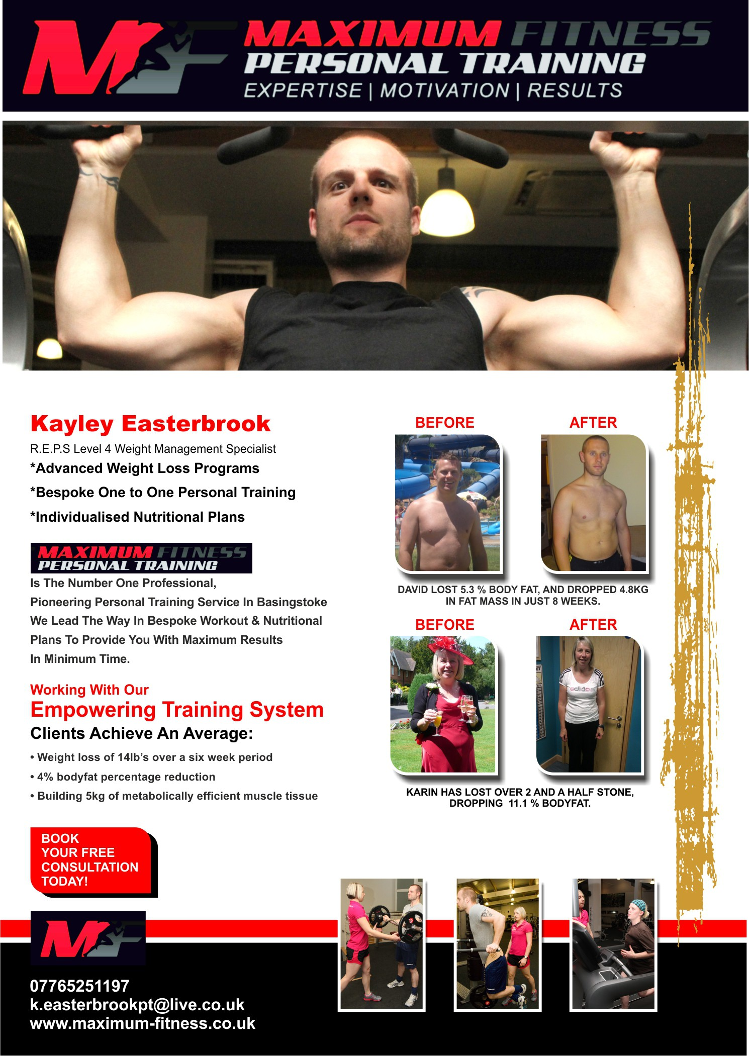 New stationery wanted for Maximum Fitness Personal Training