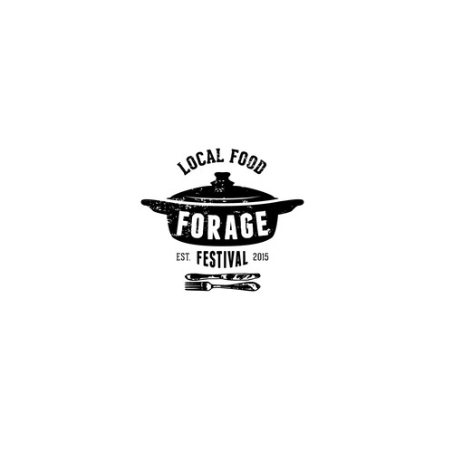 Food festival b/w logo