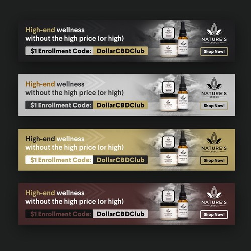 Website Banner Ad For CBD Company