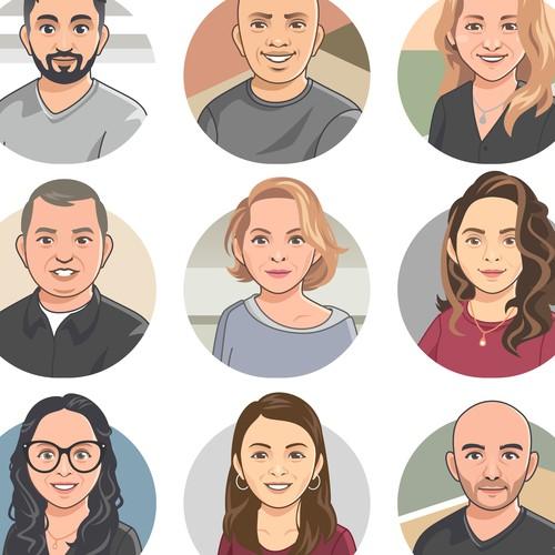 avatar set for web company