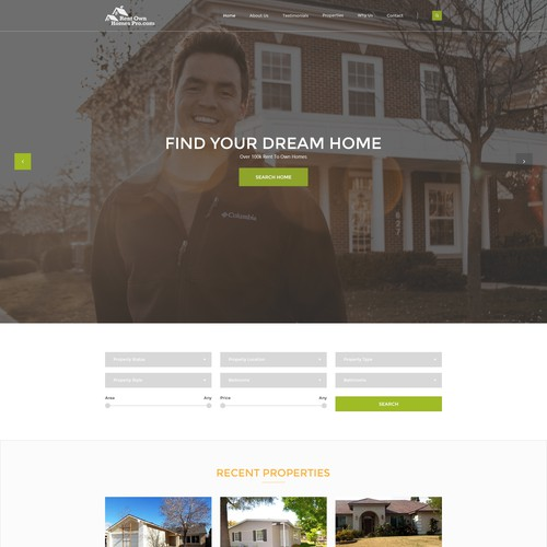 Website Redesign for Rent to Own Home Service