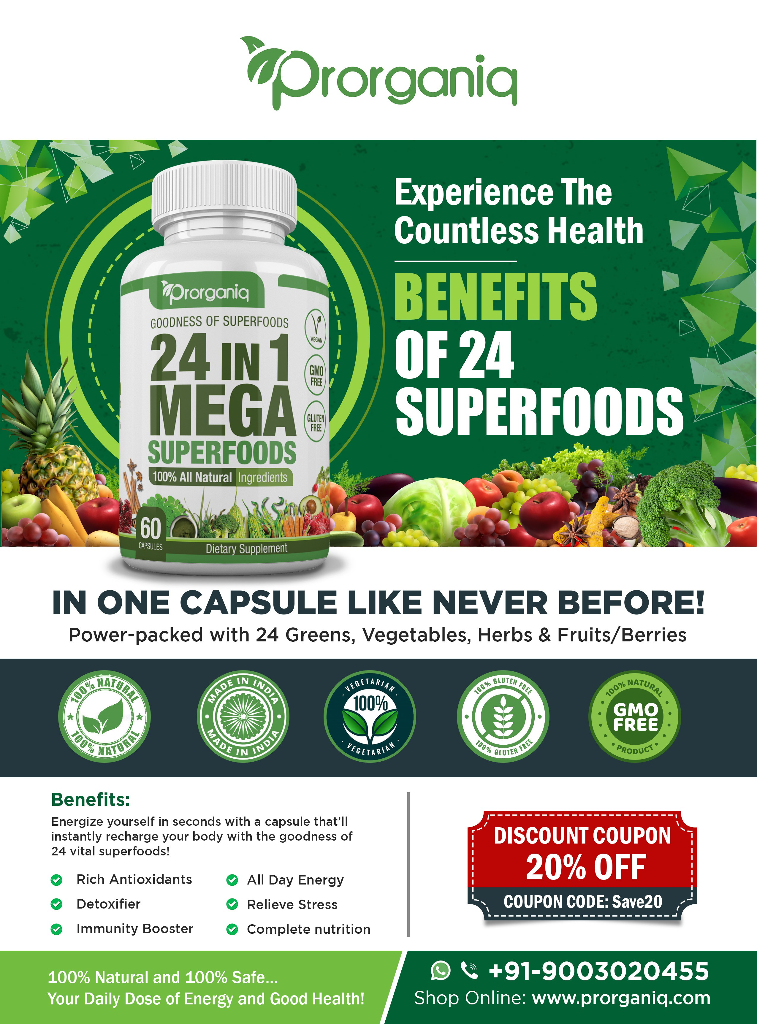 Attractive Flyer Design for a Dietary Supplement Launch