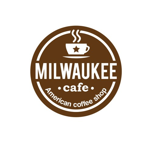Create a logo for a US coffee shop Milwaukee Cafe based in France