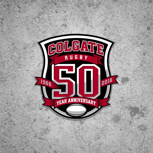 Colgate Rugby 50 Year Anniversay Logo