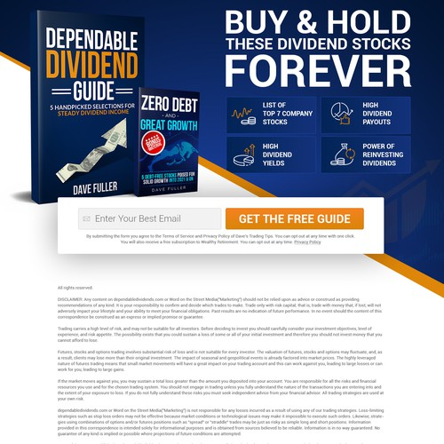 Landing Page for Dependable Dividends