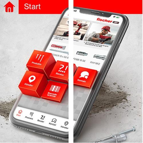 App store 3D screens design (iOS+Android)
