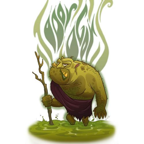 Odor Ogor character logo design