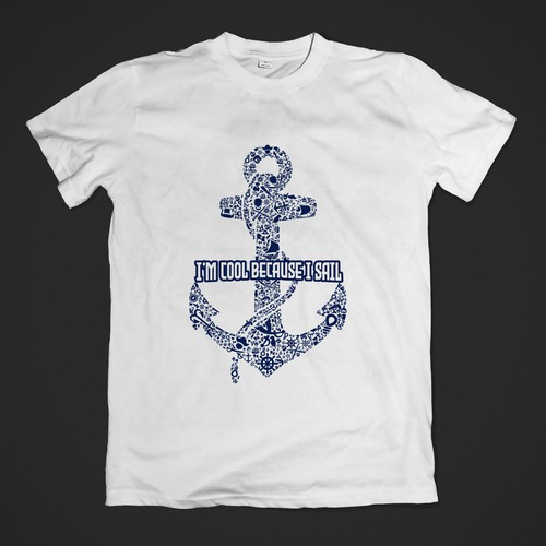 il cool because i love to sail t-shirt design for sailor.