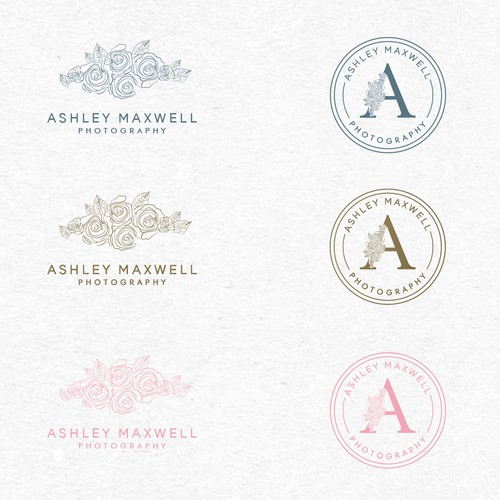 Wedding Photographer feminine logo