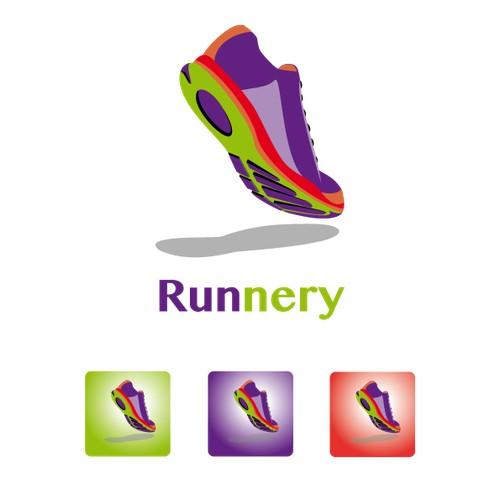 A Logo for a Running  App