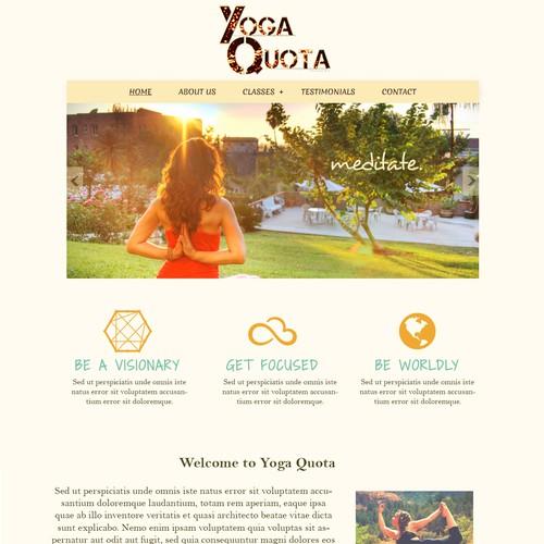 WEB SITE DESIGN - Yoga Quota
