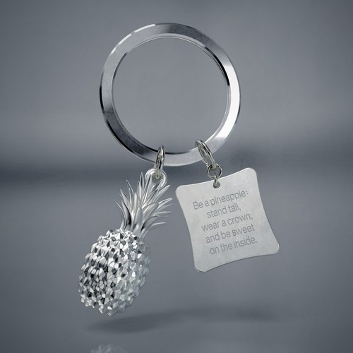 3D Pineapple Keychain