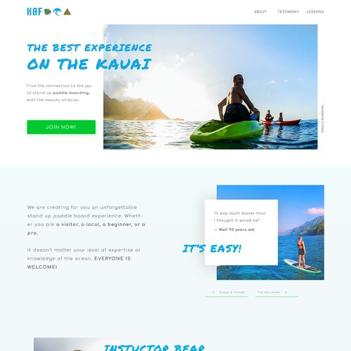 Website Redesign for Paddle Board Company