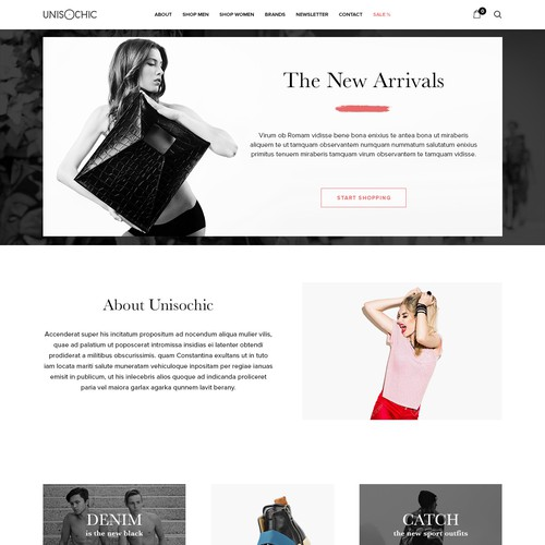 Website design concept for Unisochic