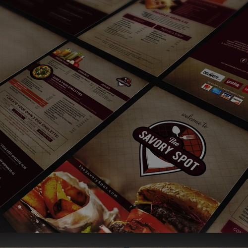 The Savory Spot Menu Design