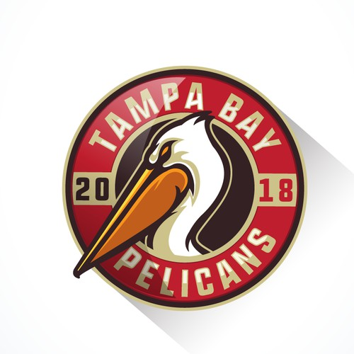 Logo for Tampa Bay Pelicans, paintball team.