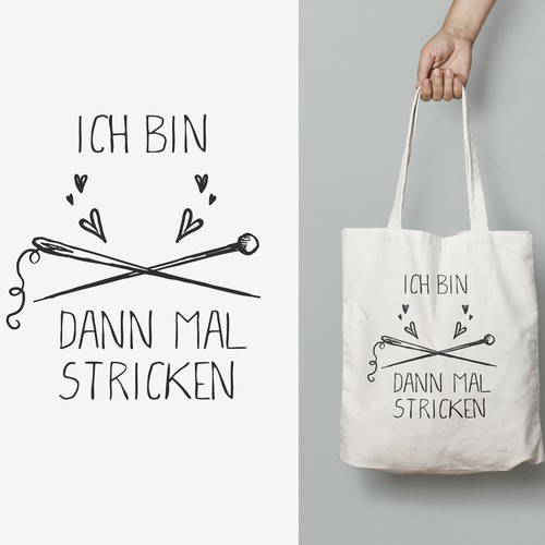 Tote bag design for knitters ! :)