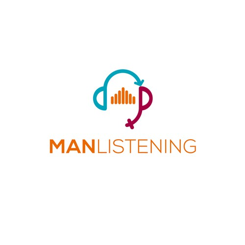Bold logo for Manlistening podcast