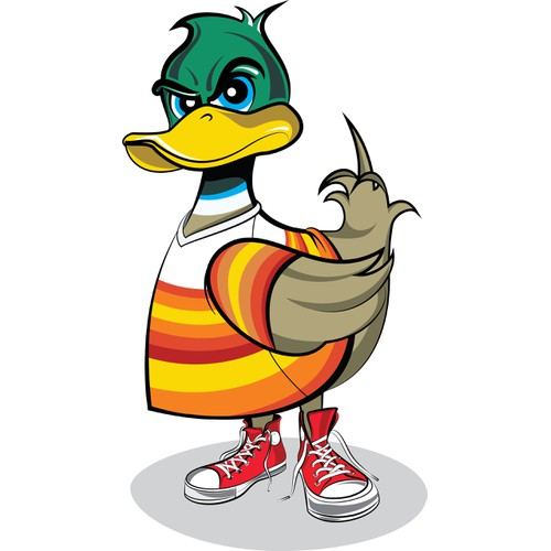 Bold duck character