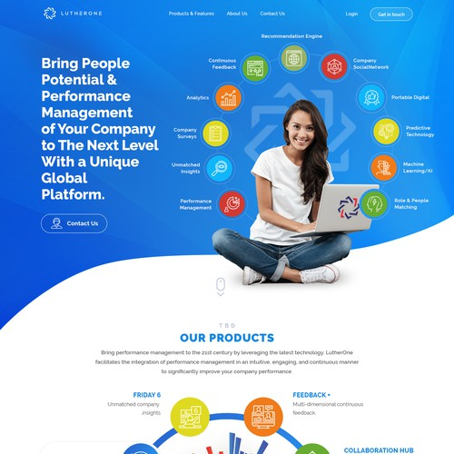 LutherOne landing page redesign