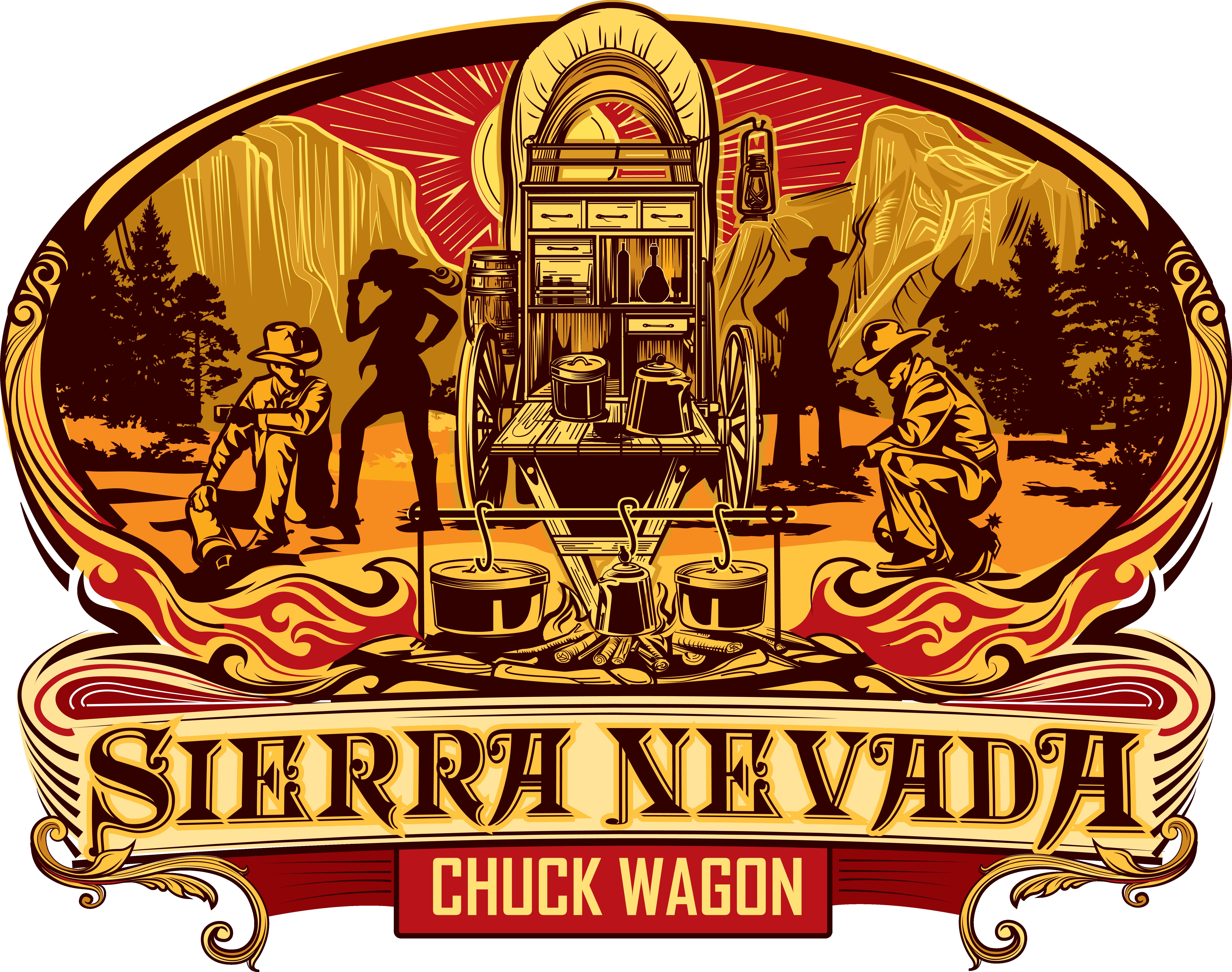 Design a bold and striking logo for Sierra Nevada Chuck Wagon