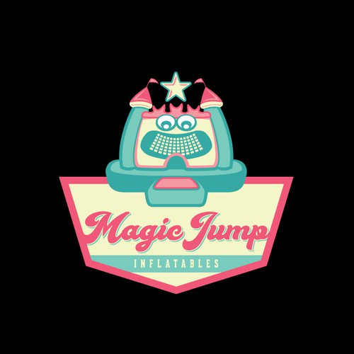 Awesome character logo for inflatable castles company.