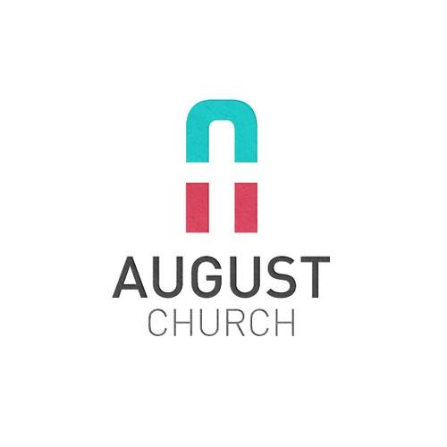 August Church Logo Design