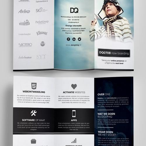 Brochure minimalist concept